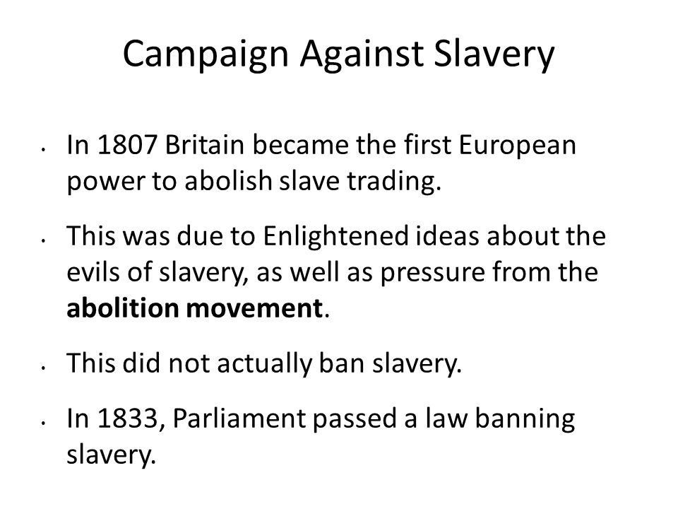 Campaign Against Slavery