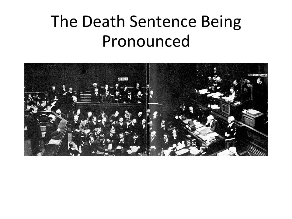 The Death Sentence Being Pronounced