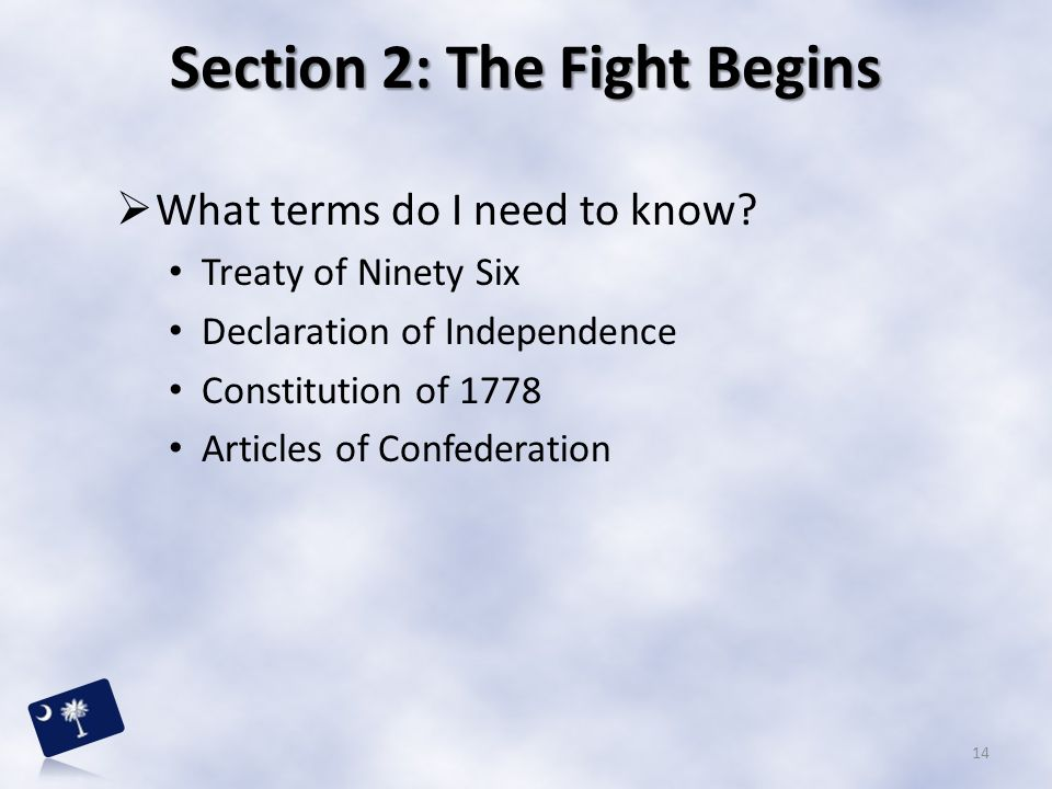 Section 2: The Fight Begins