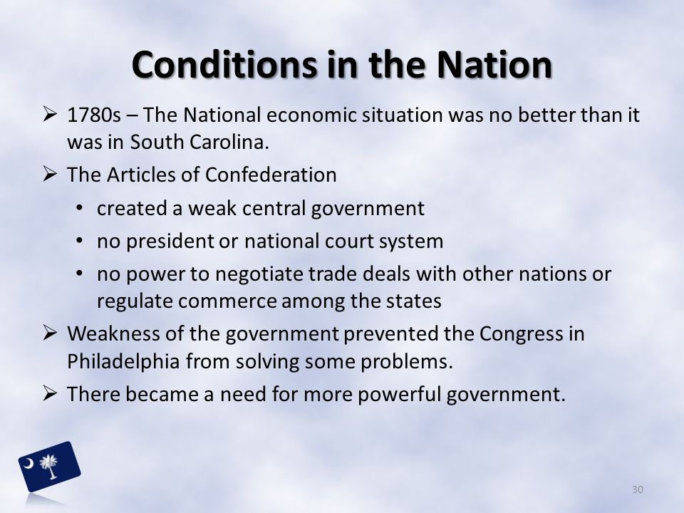 Conditions in the Nation