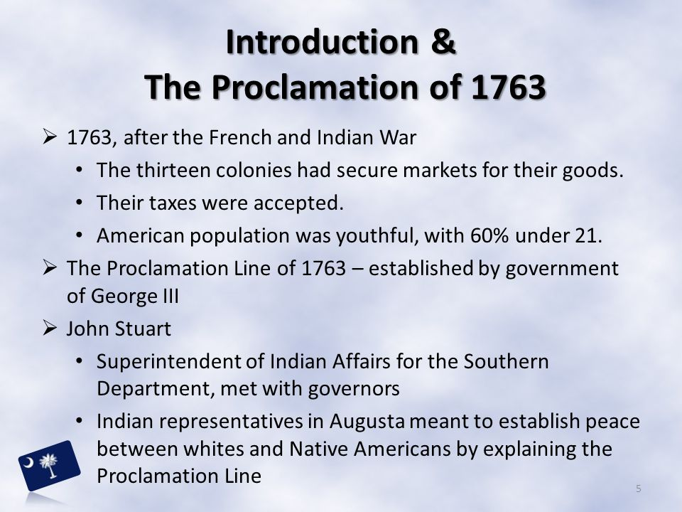 Introduction & The Proclamation of 1763