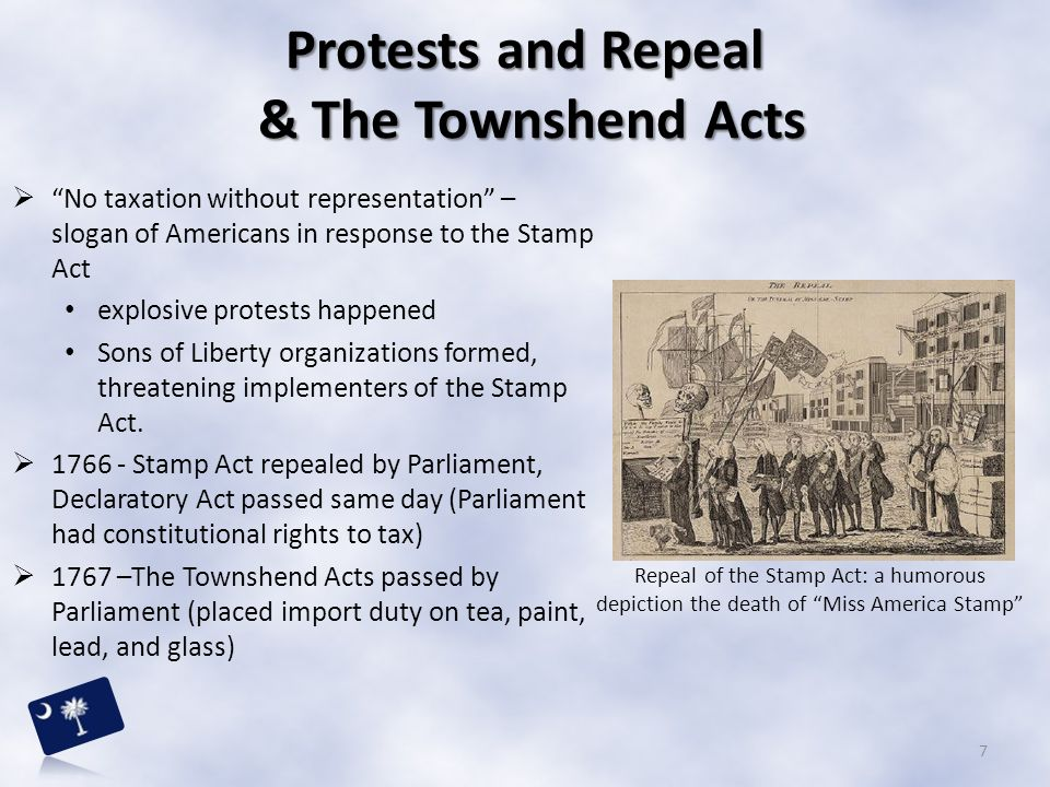 Protests and Repeal & The Townshend Acts