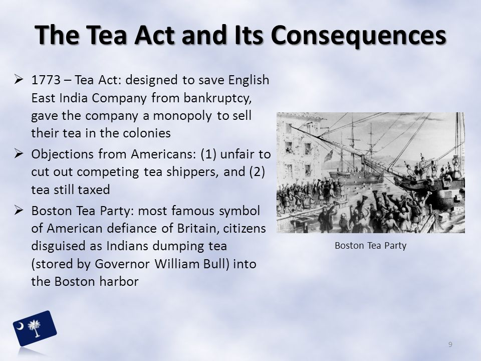 The Tea Act and Its Consequences