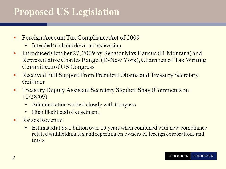 Foreign Account Tax Compliance Act of 2009