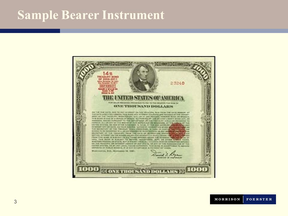 Sample Registered Instrument