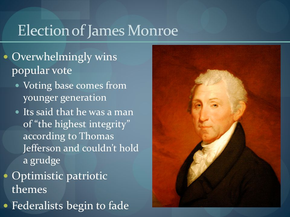 Election of James Monroe