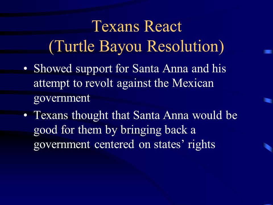 Texans React (Turtle Bayou Resolution)