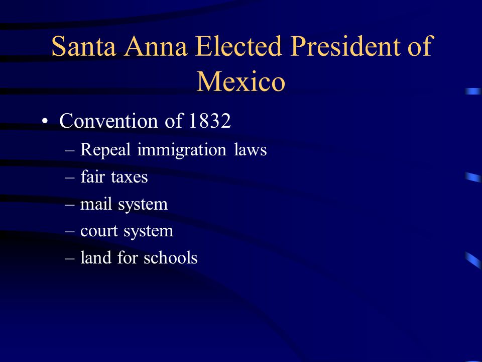 Santa Anna Elected President of Mexico