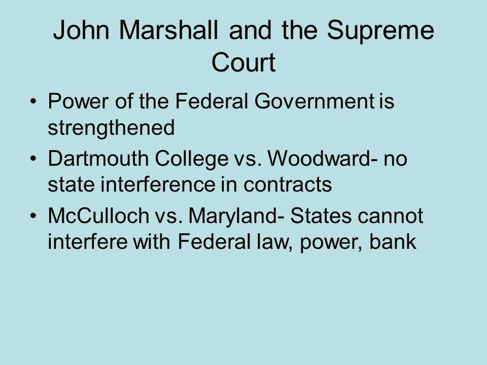 John Marshall and the Supreme Court