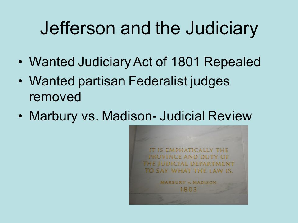 Jefferson and the Judiciary