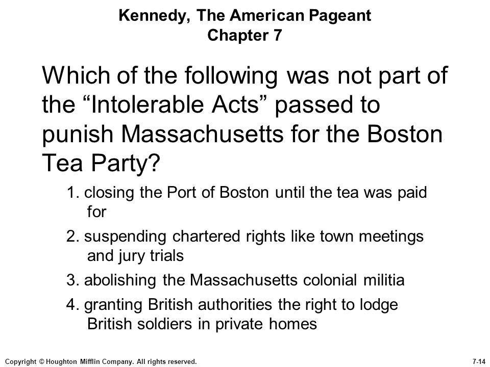 Kennedy, The American Pageant Chapter 7