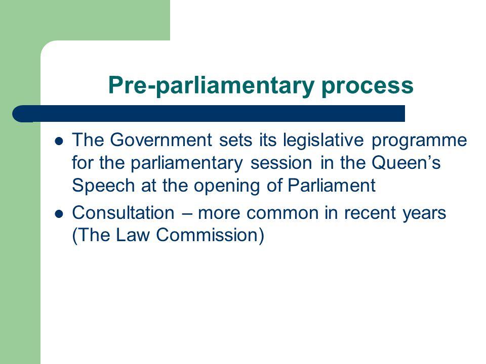 Pre-parliamentary process