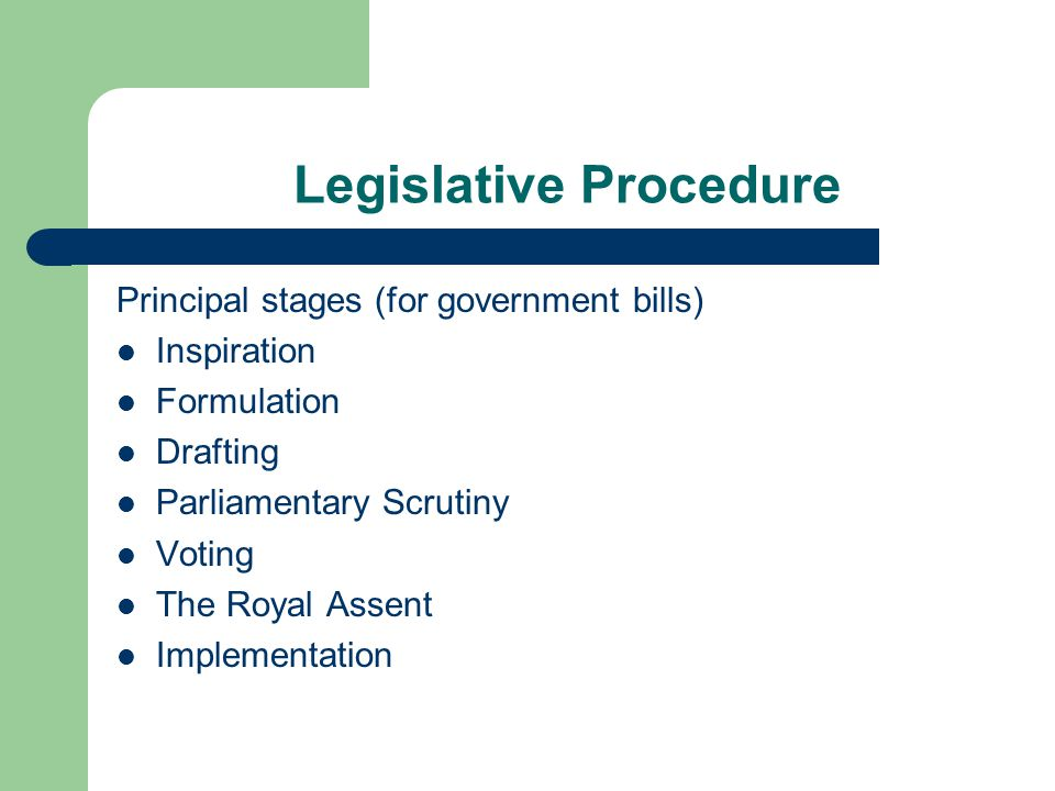 Legislative Procedure