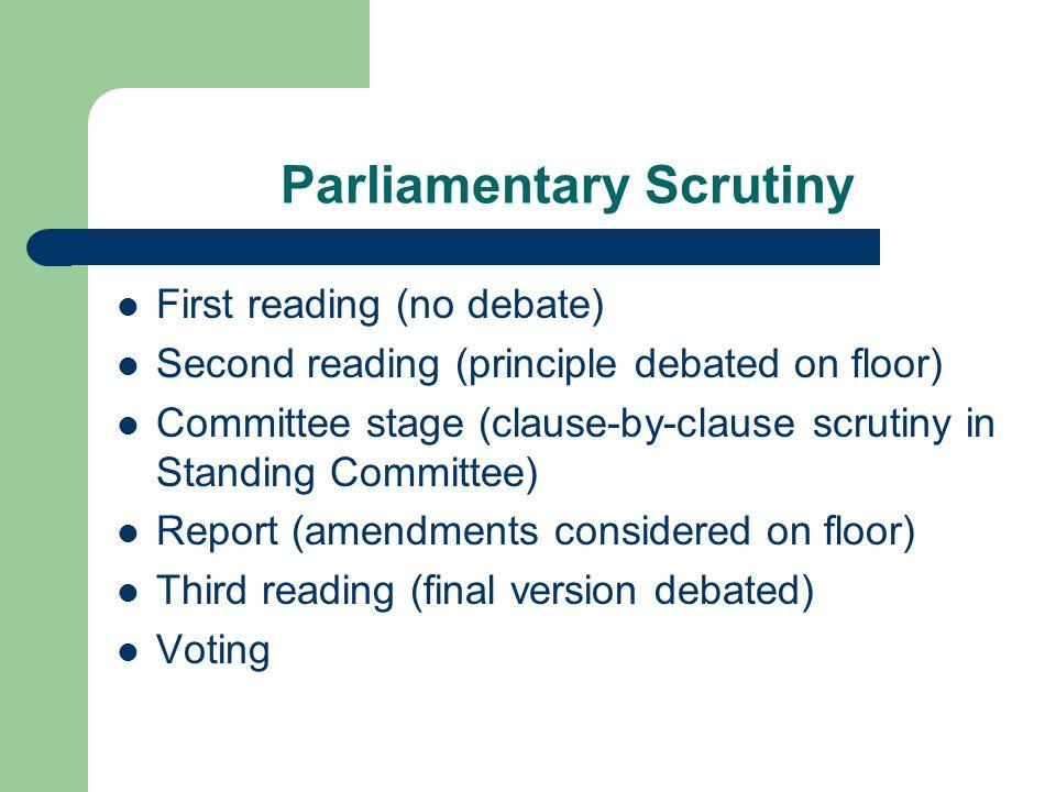 Parliamentary Scrutiny