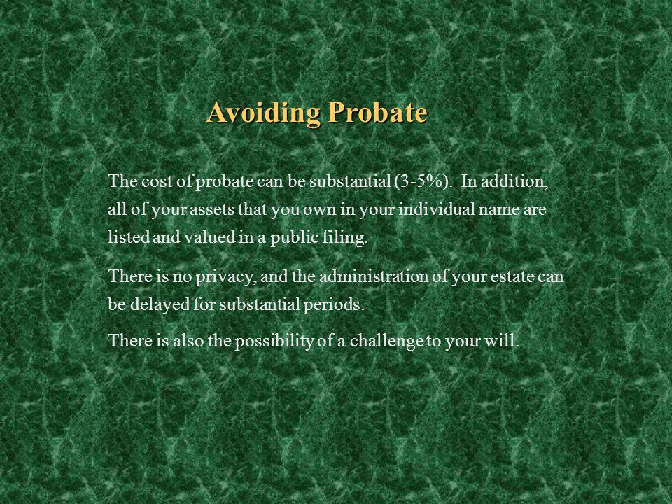 Avoiding Probate