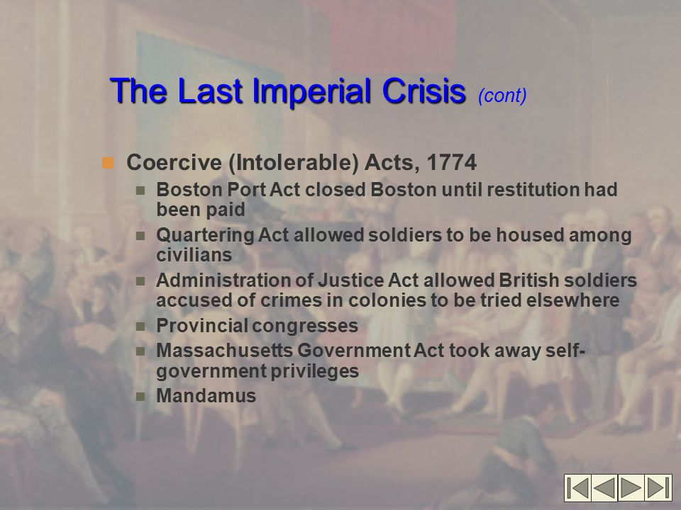 The Last Imperial Crisis (cont)