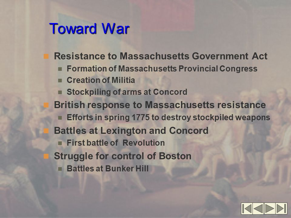 Toward War Resistance to Massachusetts Government Act