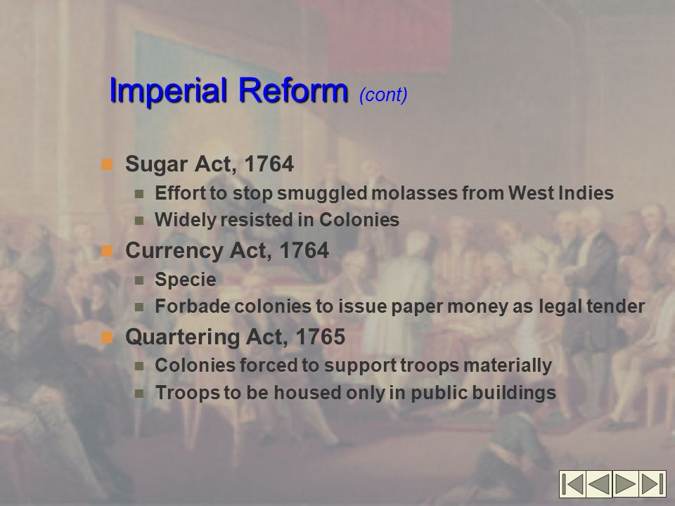 Imperial Reform (cont)