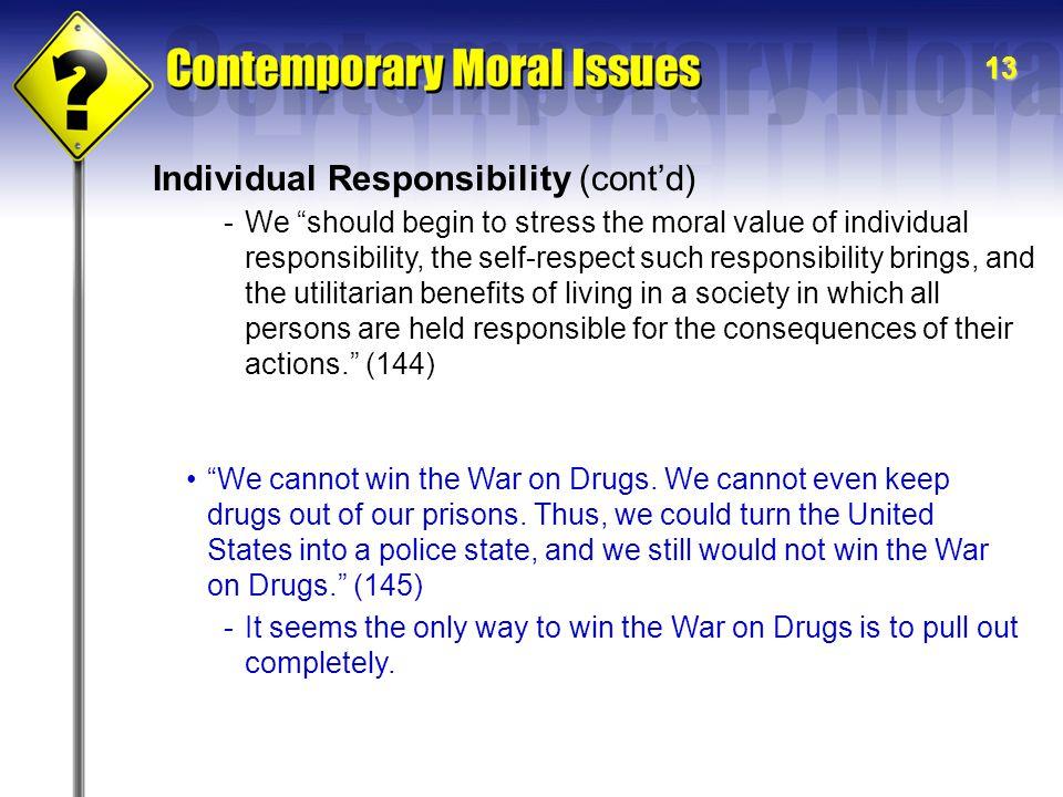 Individual Responsibility (cont'd)