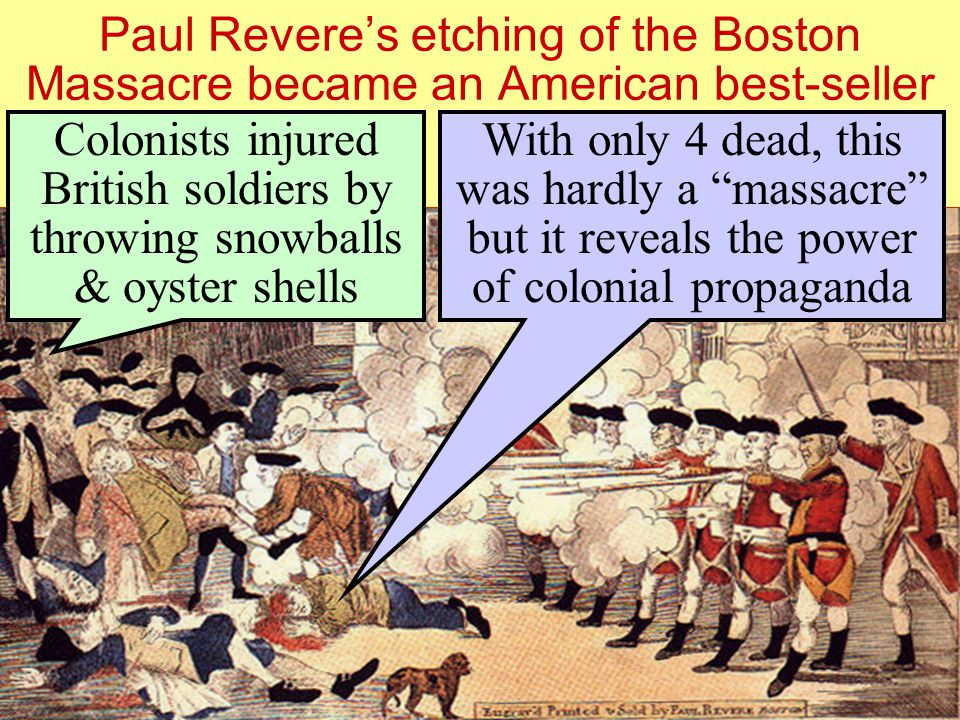 Paul Revere's etching of the Boston Massacre became an American best-seller