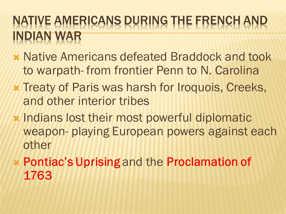 Native Americans during the French and Indian War