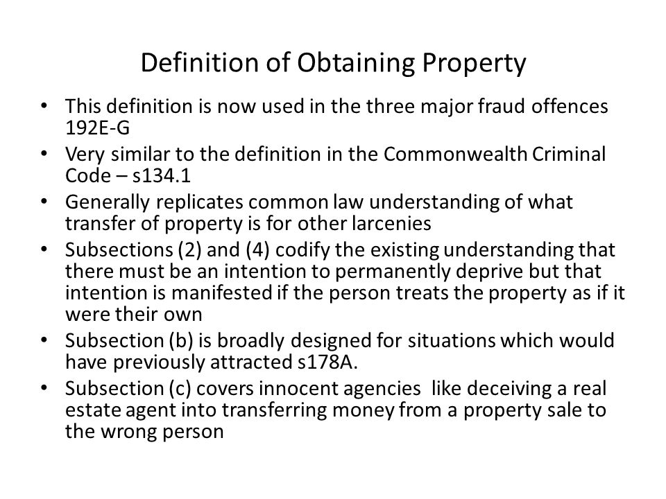 Definition of Obtaining Property