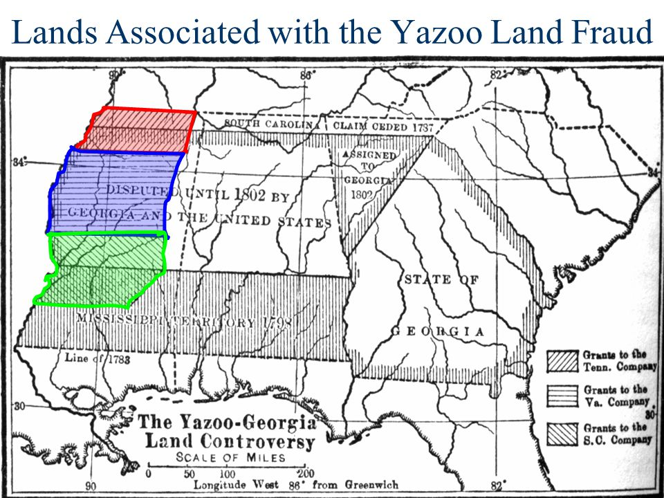 Lands Associated with the Yazoo Land Fraud