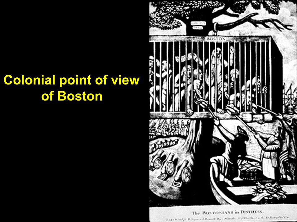 Colonial point of view of Boston