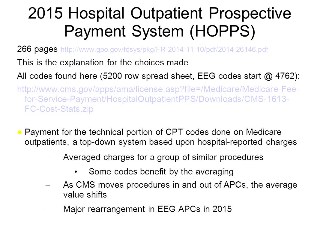 2015 Hospital Outpatient Prospective Payment System (HOPPS)