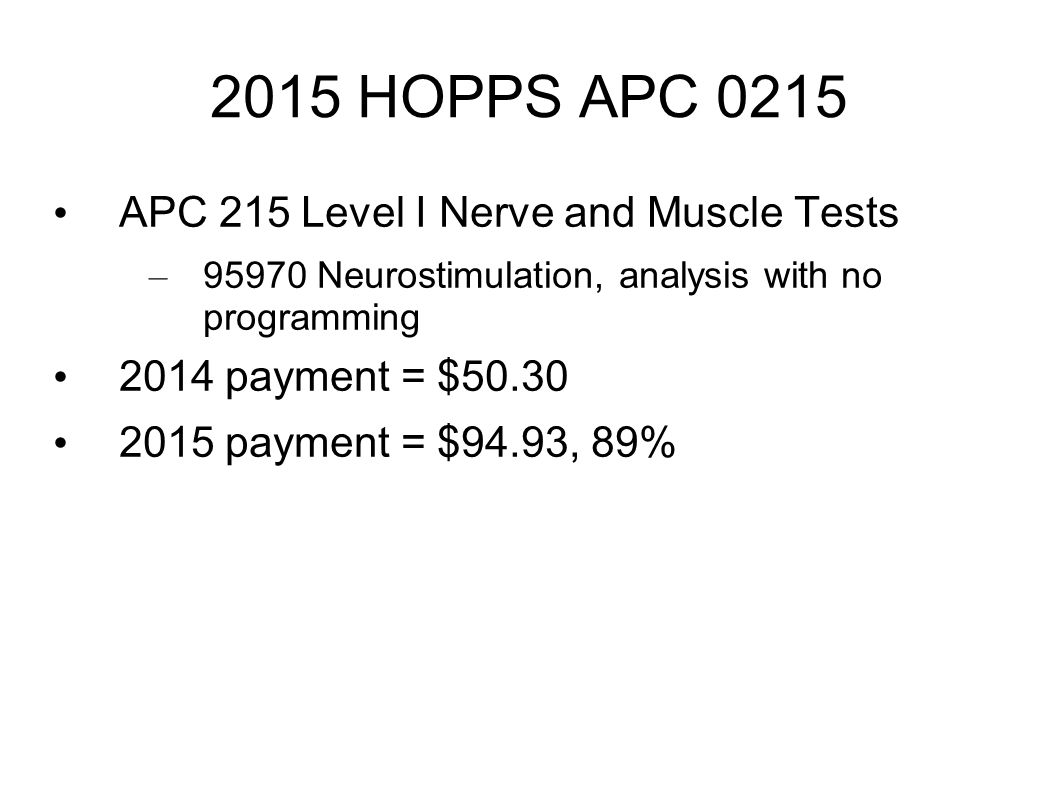 2015 HOPPS APC 0215 APC 215 Level I Nerve and Muscle Tests