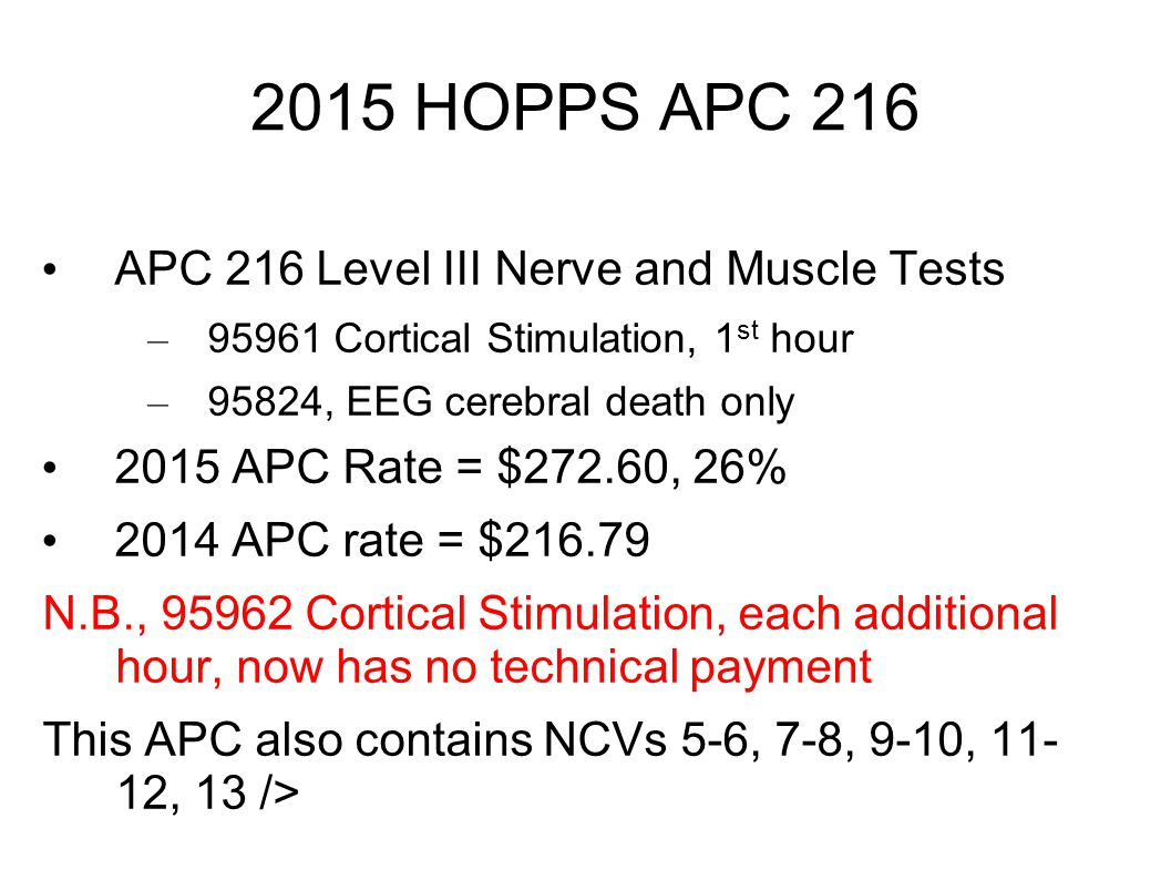 2015 HOPPS APC 216 APC 216 Level III Nerve and Muscle Tests