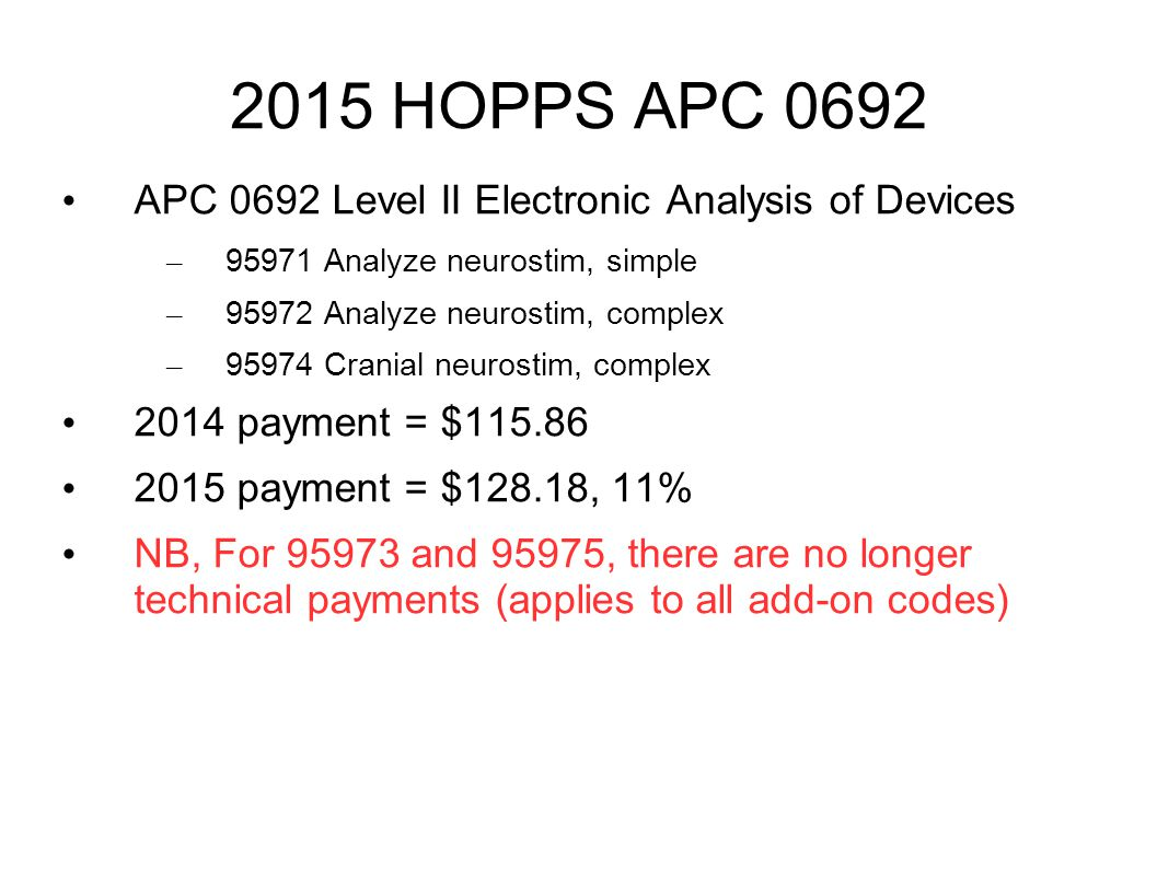 2015 HOPPS APC 0692 APC 0692 Level II Electronic Analysis of Devices