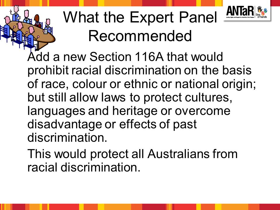What the Expert Panel Recommended