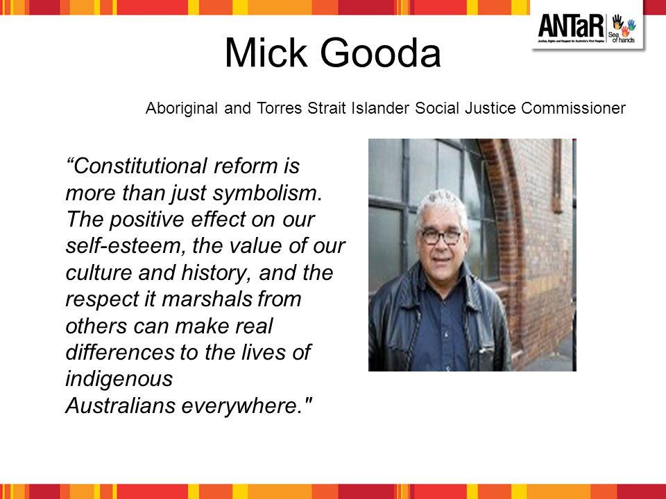 Mick Gooda Aboriginal and Torres Strait Islander Social Justice Commissioner.