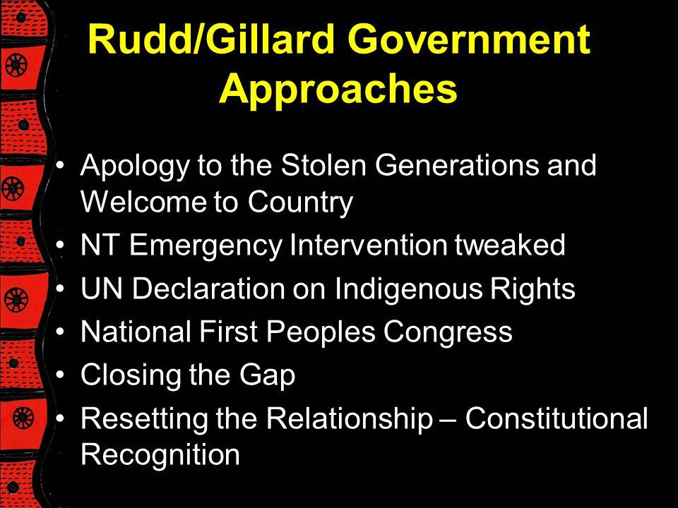Rudd/Gillard Government Approaches
