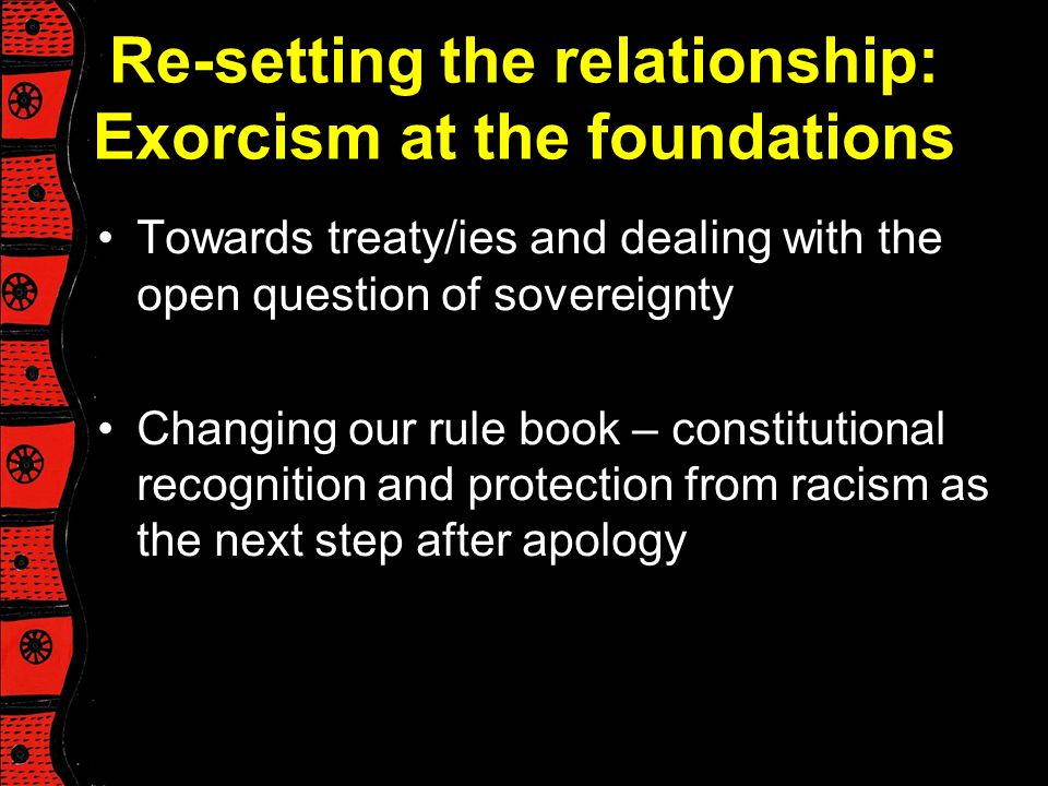 Re-setting the relationship: Exorcism at the foundations