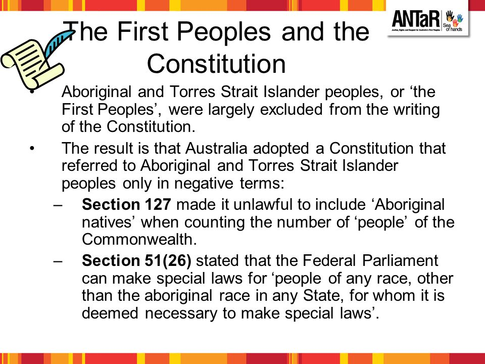 The First Peoples and the Constitution