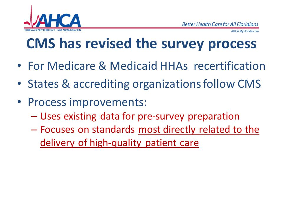 CMS has revised the survey process