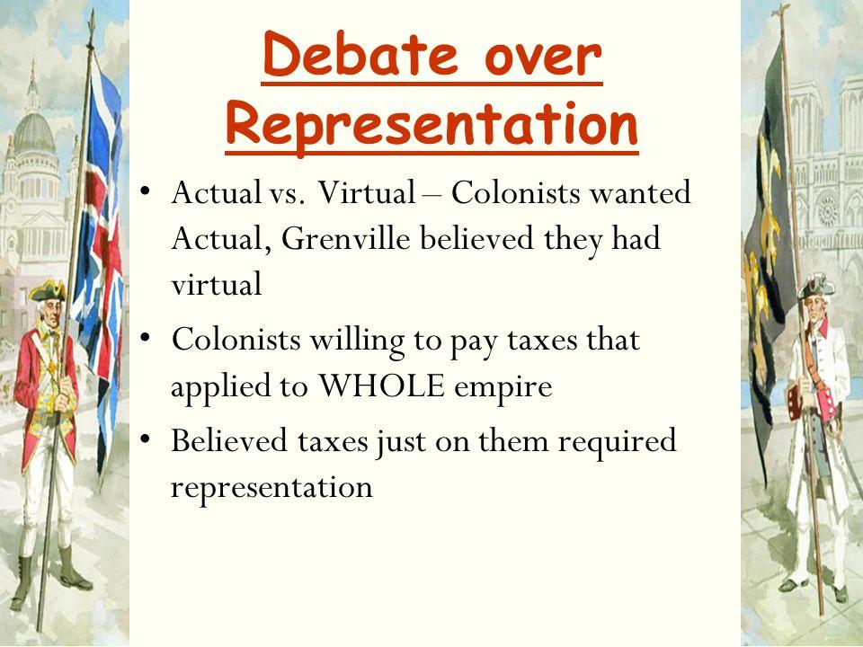 Debate over Representation