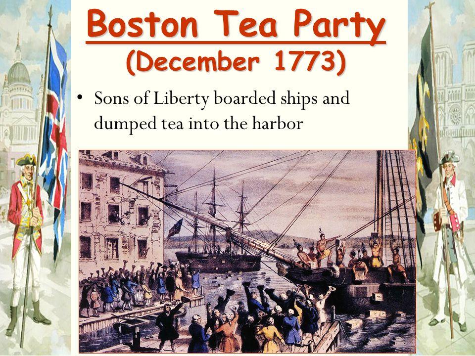 Boston Tea Party (December 1773)