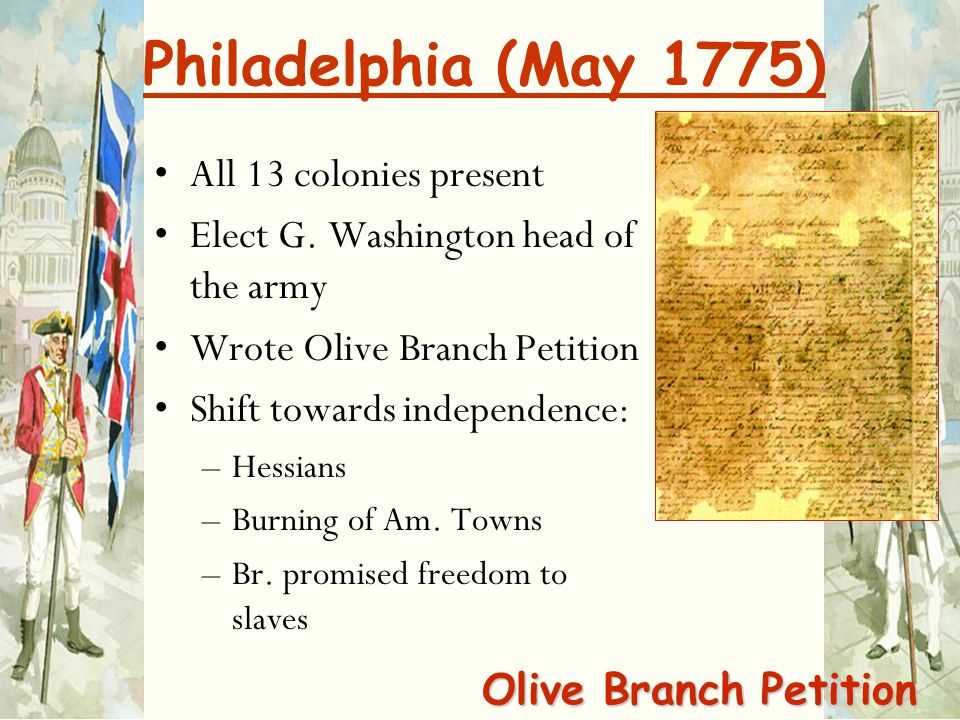 Philadelphia (May 1775) All 13 colonies present