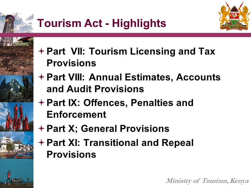 Tourism Act - Highlights