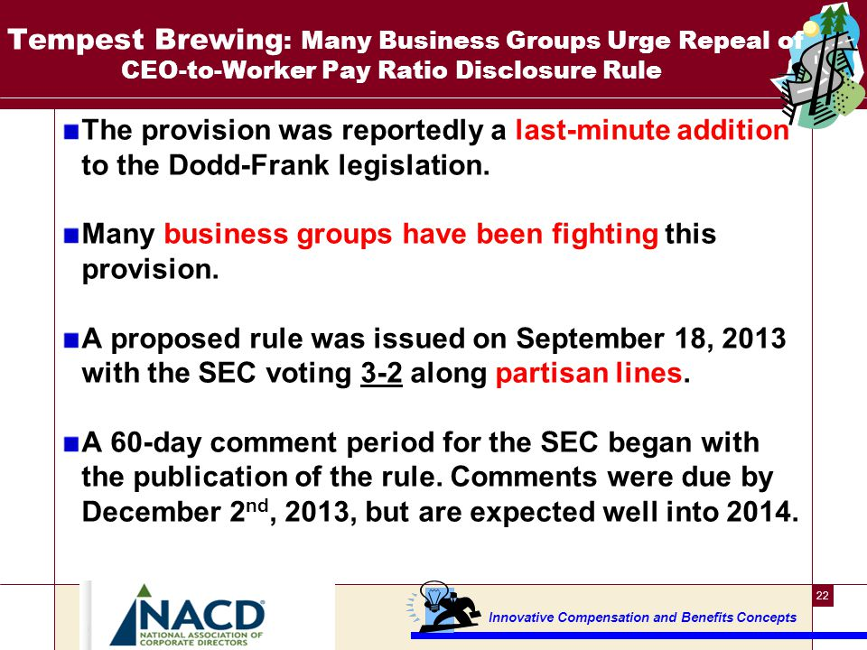 Many Business Groups Urge Repeal of CEO-to-Worker Pay Ratio Disclosure Rule ---2