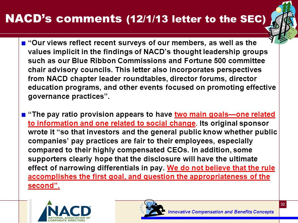 What's the view opposing the SEC pay ratio rule ---4