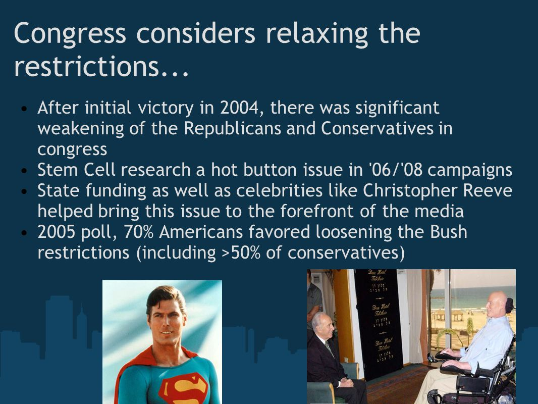 Congress considers relaxing the restrictions...