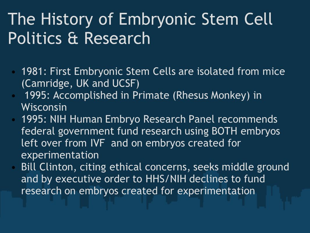 The History of Embryonic Stem Cell Politics & Research