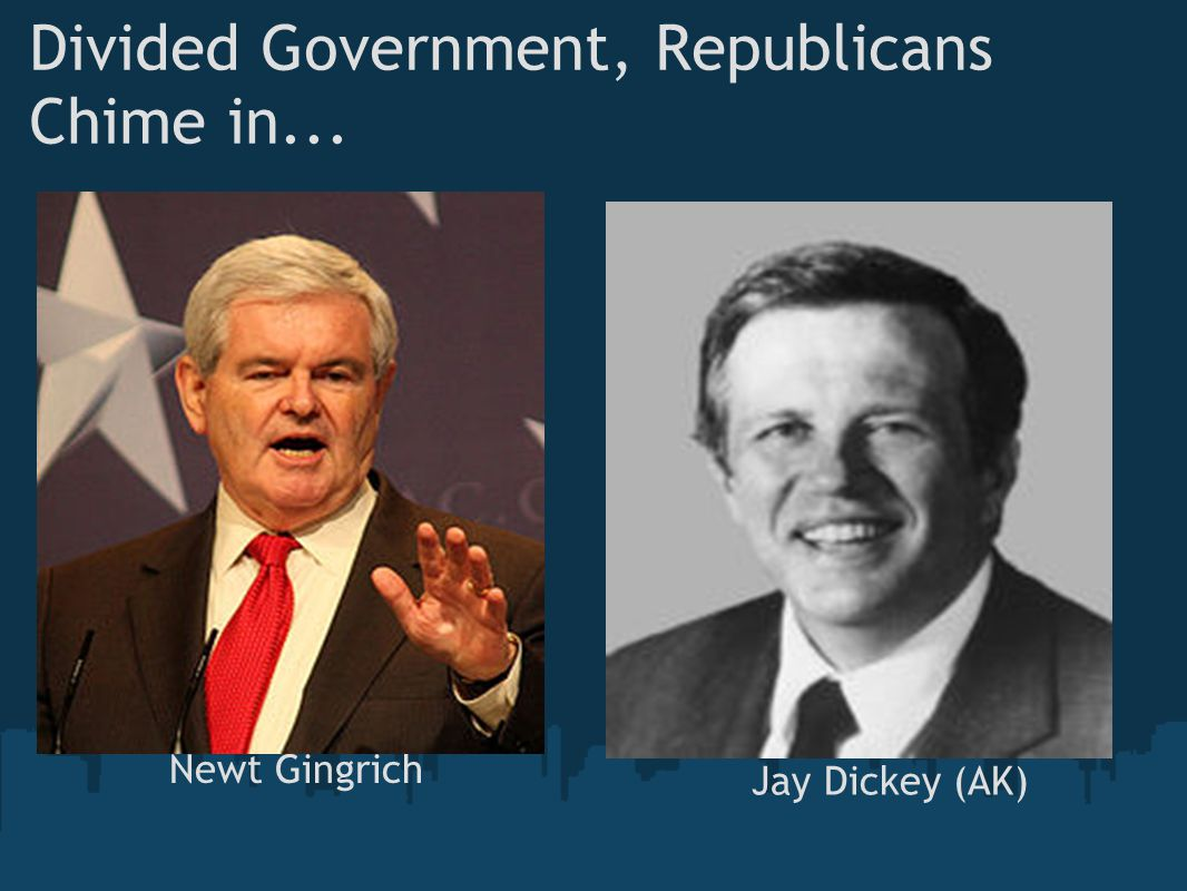 Divided Government, Republicans Chime in...