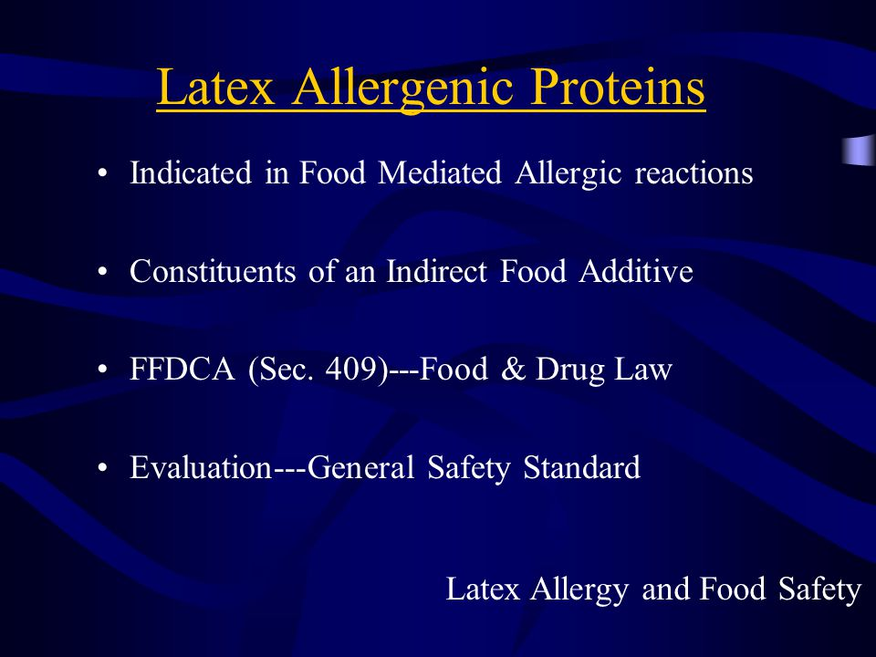 Latex Allergenic Proteins