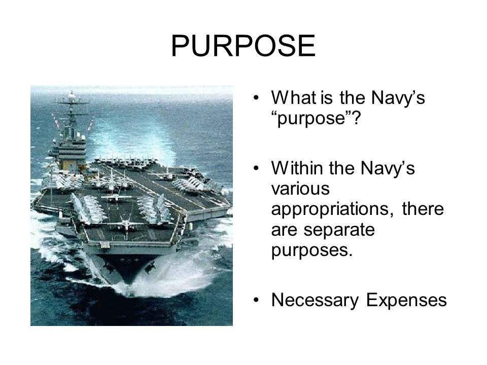 PURPOSE What is the Navy's purpose