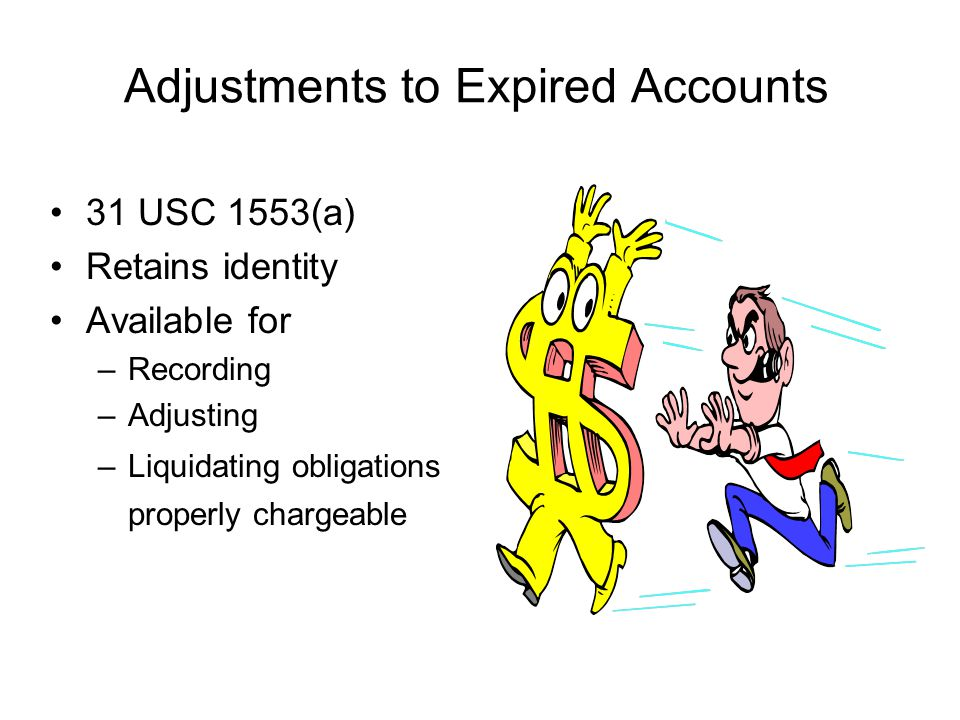 Adjustments to Expired Accounts